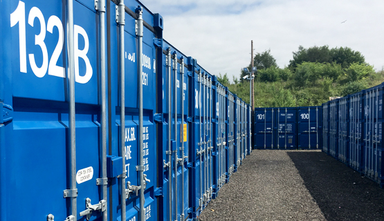 Robinsons Self Storage Containers Lined Up